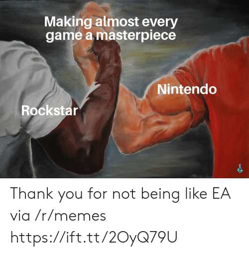 rockstar: Making almost every  game a masterpiece  Nintendo  Rockstar Thank you for not being like EA via /r/memes https://ift.tt/2OyQ79U