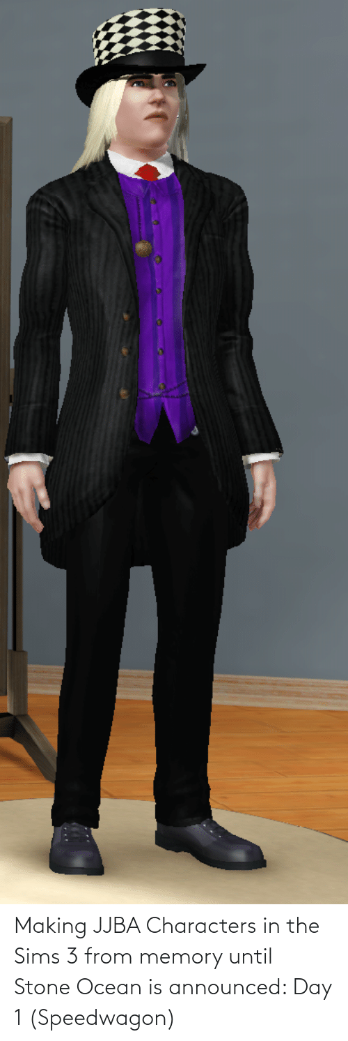 The Sims 3: Making JJBA Characters in the Sims 3 from memory until Stone Ocean is announced: Day 1 (Speedwagon)