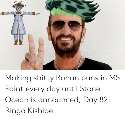ms paint: Making shitty Rohan puns in MS Paint every day until Stone Ocean is announced, Day 82: Ringo Kishibe