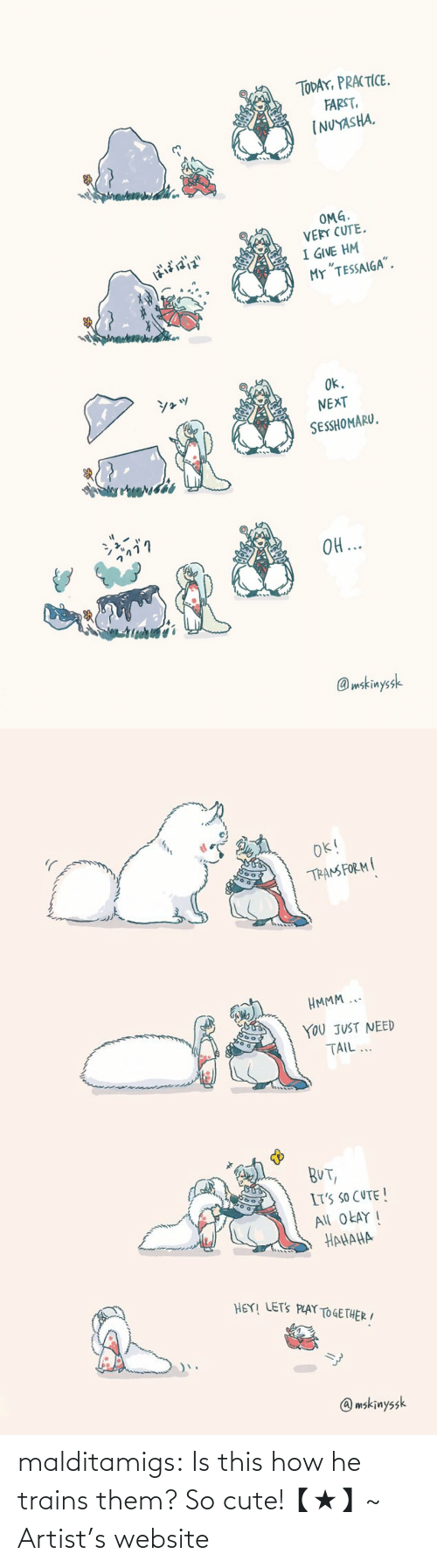 Is This: malditamigs:  Is this how he trains them? So cute!【★】~ Artist's website
