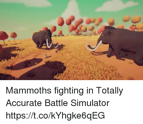 Battle Simulator: Mammoths fighting in Totally Accurate Battle Simulator https://t.co/kYhgke6qEG