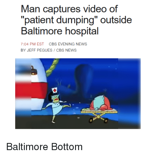 Baltimore Hospital Accused Of Patient Dumping: Man Captures Video Of Patient Dumping Outside Baltimore