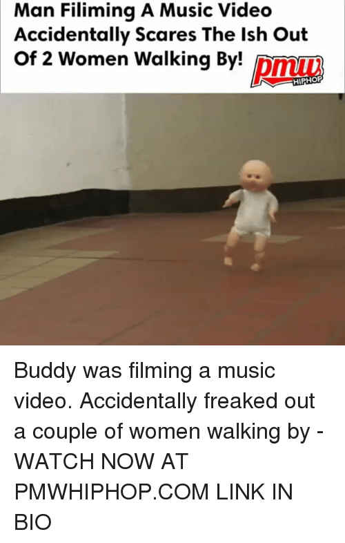 watch-now: Man Filiming A Music Videc  Accidentally Scares The lsh Out  Of 2 Women Walking By!  Af 2 women Walking Bmn  king By pmuw  HIPHOF Buddy was filming a music video. Accidentally freaked out a couple of women walking by - WATCH NOW AT PMWHIPHOP.COM LINK IN BIO