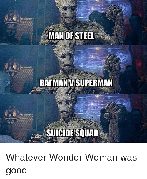 Batman, Memes, and Squad: MAN OF STEEL  BATMAN VSUPERMAN  SUICIDE SQUAD Whatever Wonder Woman was good