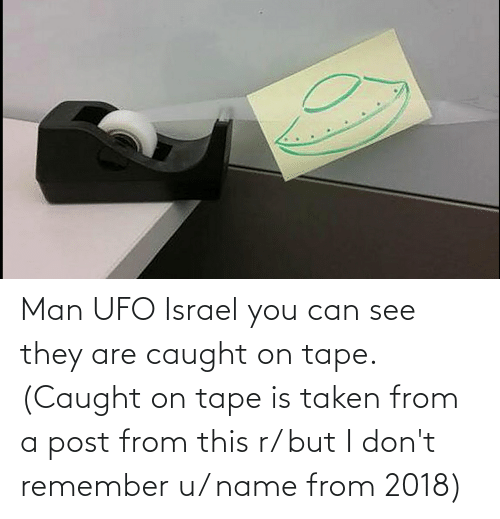 ufo: Man UFO Israel you can see they are caught on tape. (Caught on tape is taken from a post from this r/ but I don't remember u/ name from 2018)