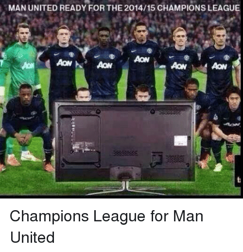 Soccer, Champions League, and United: MAN UNITED READY FOR THE 2014/15 CHAMPIONS LEAGUE  AON Champions League for Man United