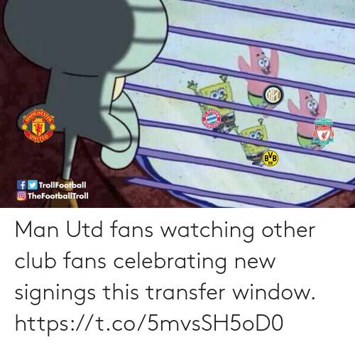 man utd: Man Utd fans watching other club fans celebrating new signings this transfer window. https://t.co/5mvsSH5oD0