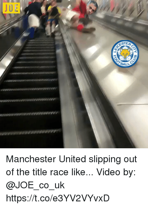 Soccer, Manchester United, and United: Manchester United slipping out of the title race like...  Video by: @JOE_co_uk https://t.co/e3YV2VYvxD