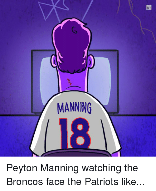 Patriotic, Peyton Manning, and Sports: MANNING Peyton Manning watching the Broncos face the Patriots like...