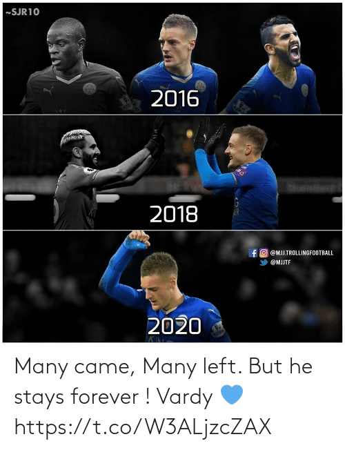 vardy: Many came, Many left. But he stays forever ! Vardy 💙 https://t.co/W3ALjzcZAX