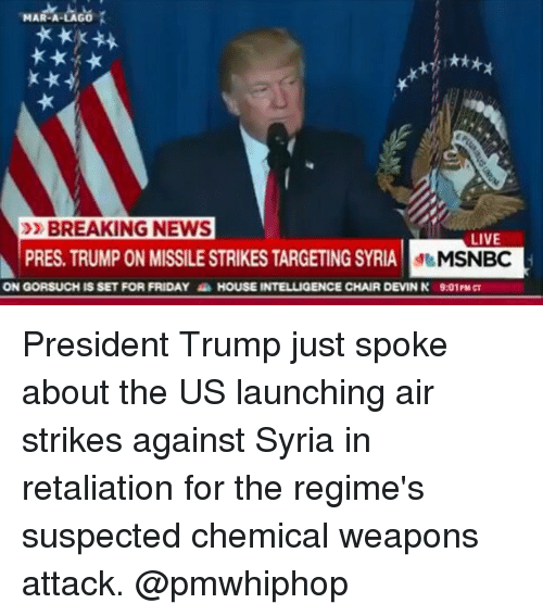 Msnbc Breaking News: MAR-A BREAKING NEWS LIVE PRES TRUMP ON MISSILESTRIKES