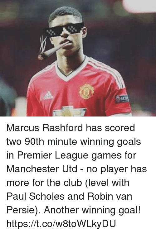 premier-league-games: Marcus Rashford has scored two 90th minute winning goals in Premier League games for Manchester Utd - no player has more for the club (level with Paul Scholes and Robin van Persie).  Another winning goal! https://t.co/w8toWLkyDU
