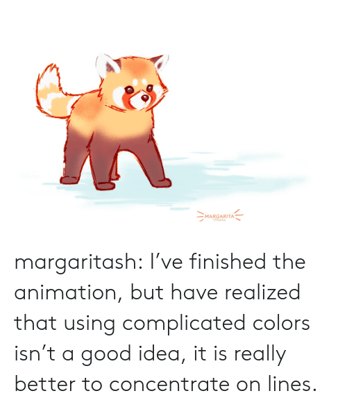 Animation: MARGARITA  A margaritash:  I've finished the animation, but have realized that using complicated colors isn't a good idea, it is really better to concentrate on lines.