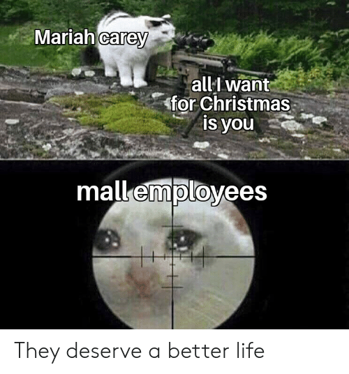 better life: Mariah carey  all want  for Christmas  is you  mall employees They deserve a better life
