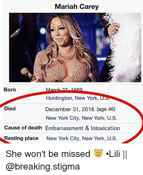 mariah carey born huntington new york d died december 31