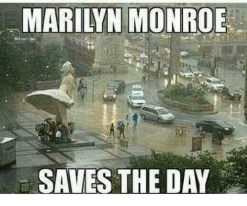 Marilyn Monroe: MARILYN MONROE  SAVES THE DAY