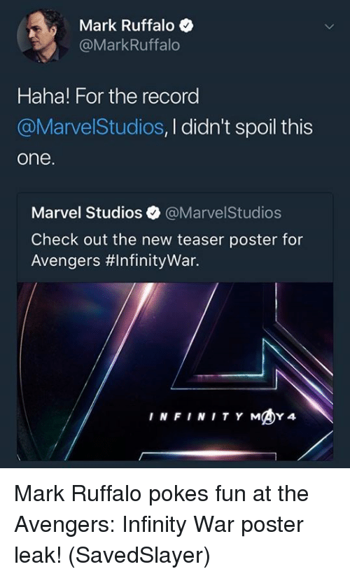 Infinity War Poster Funny