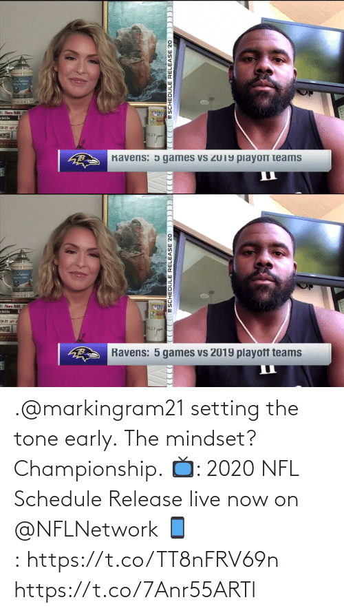 Early: .@markingram21 setting the tone early.  The mindset? Championship.  📺: 2020 NFL Schedule Release live now on @NFLNetwork 📱:https://t.co/TT8nFRV69n https://t.co/7Anr55ARTl