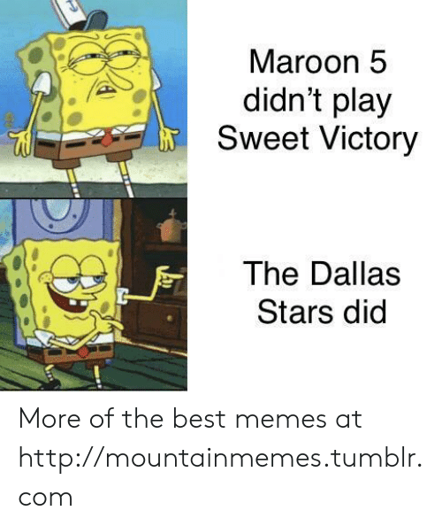 Dallas Stars: Maroon 5  didn't play  Sweet Victory  The Dallas  Stars did More of the best memes at http://mountainmemes.tumblr.com