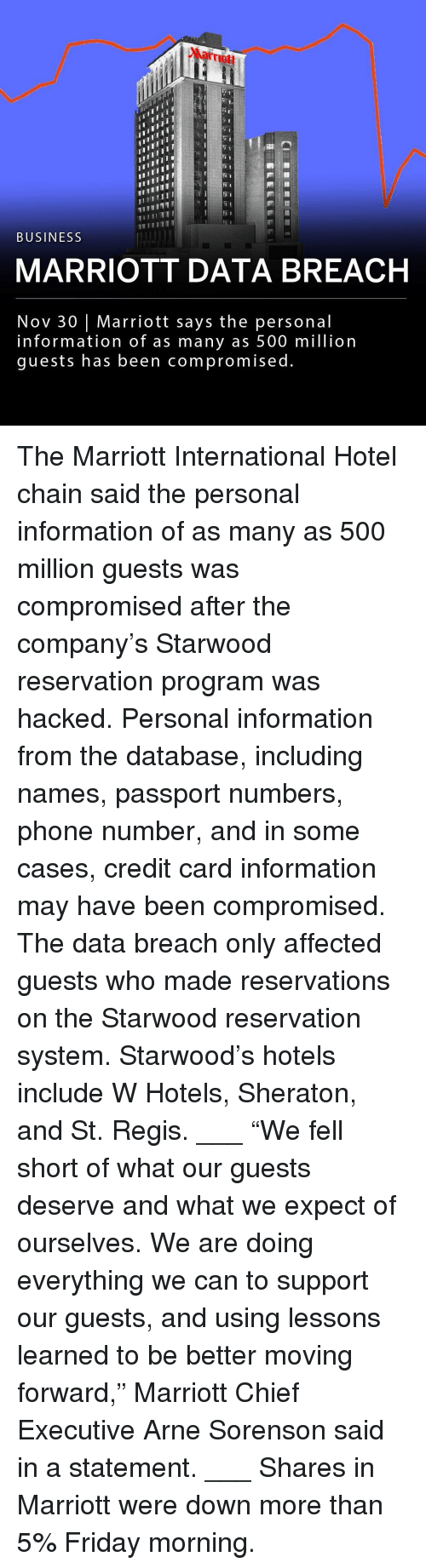 """reservations: Marrmott  ITII  TII  BUSINESS  MARRIOTT DATA BREACH  Nov 30