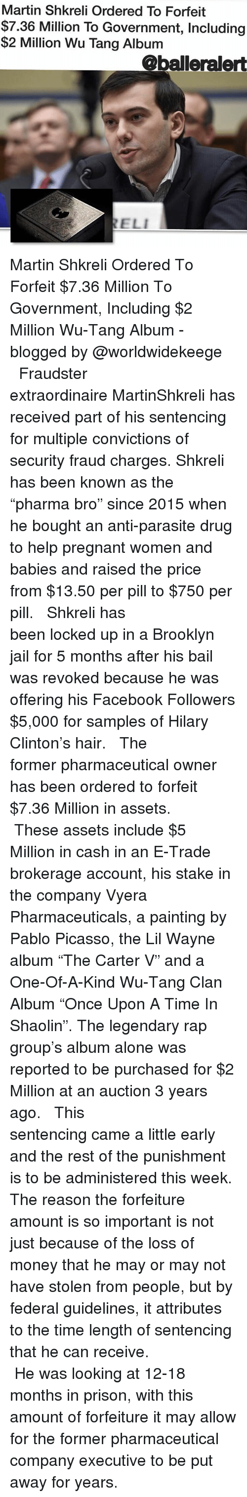 Fox ews anne breaking trump orders raid on shkreli university wu being alone facebook and jail martin shkreli ordered to forfeit 736 million to pooptronica