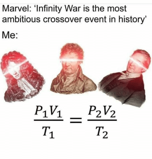 Memes, History, and Infinity: Marvel: 'Infinity War is the most  ambitious crossover event in history  Me:  T.  2  1