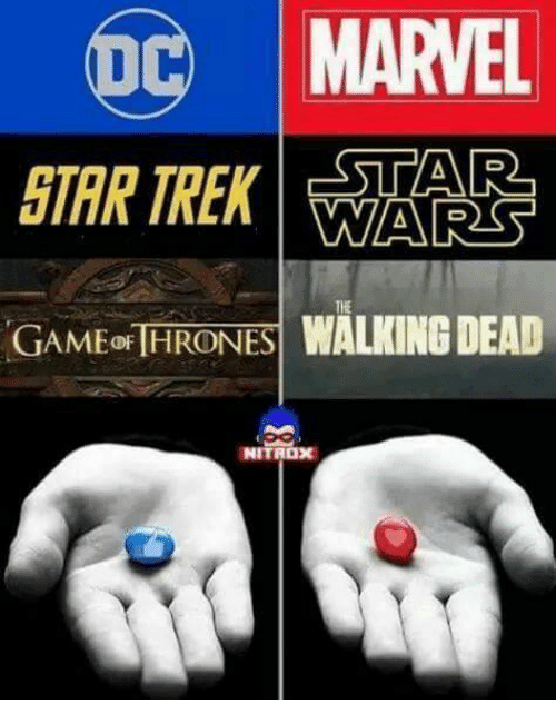 Memes, Marvel, and Walking Dead: MARVEL  TREK STAR  D  GAMEOF THRONES  WALKING DEAD  NITROX