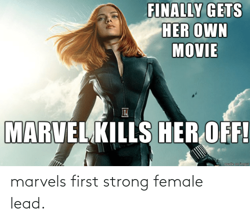 lead: marvels first strong female lead.