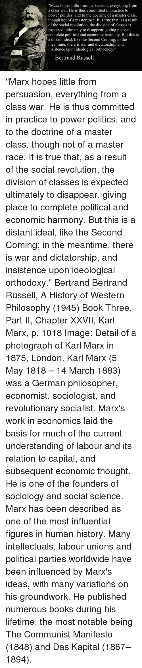 describing the social scientist historian and revolutionist karl marx Thomas bailey group a karl marx (1818-83) karl marx is a german political philosopher, revolutionist, and historian who is famous for of both describing and.