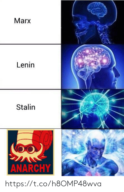 stalin: Marx  Lenin  Stalin  ANARCHY https://t.co/h8OMP48wva