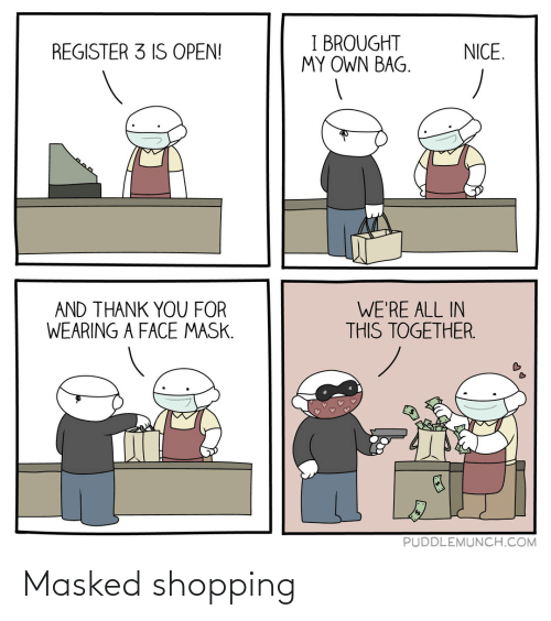 Masked: Masked shopping