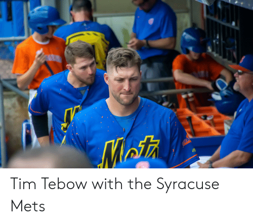 Tim Tebow: MatA  SYRA Tim Tebow with the Syracuse Mets