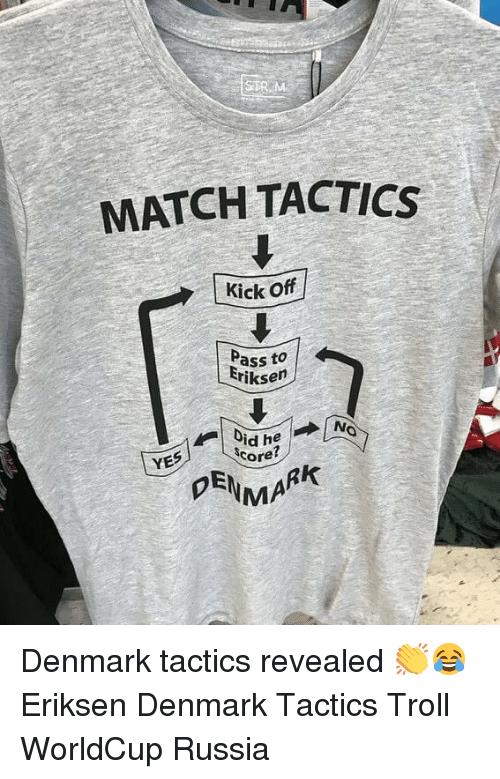 Memes, Troll, and Denmark: MATCH TACTICS  KickOff  Pass to  Friksen  NO  YES  Ore?  PEN AR Denmark tactics revealed 👏😂 Eriksen Denmark Tactics Troll WorldCup Russia