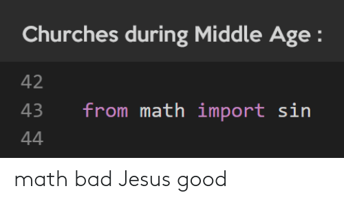 Jesus: math bad Jesus good