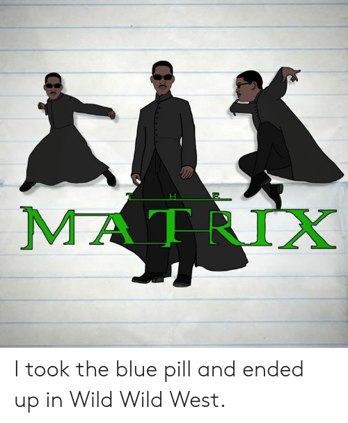 Blue Pill: MATRIX I took the blue pill and ended up in Wild Wild West.