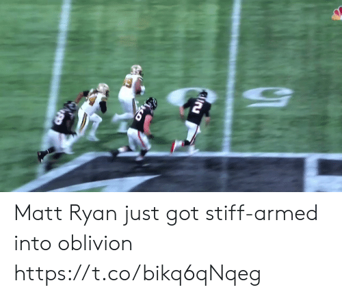 Matt: Matt Ryan just got stiff-armed into oblivion https://t.co/bikq6qNqeg