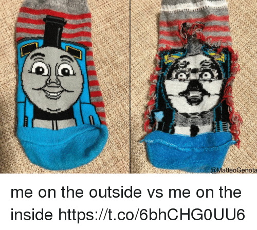 Funny, Awkward, and Inside: @MatteoGenota me on the outside vs me on the inside https://t.co/6bhCHG0UU6