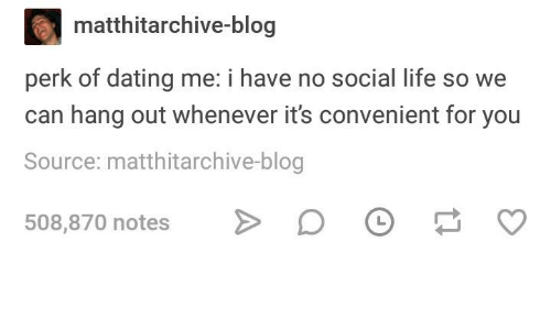 We socialize dating