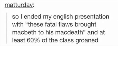 the fatal flaws of macbeth