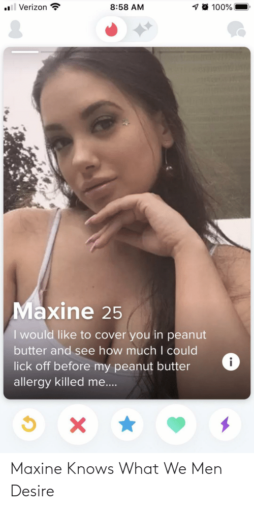 Knows: Maxine Knows What We Men Desire