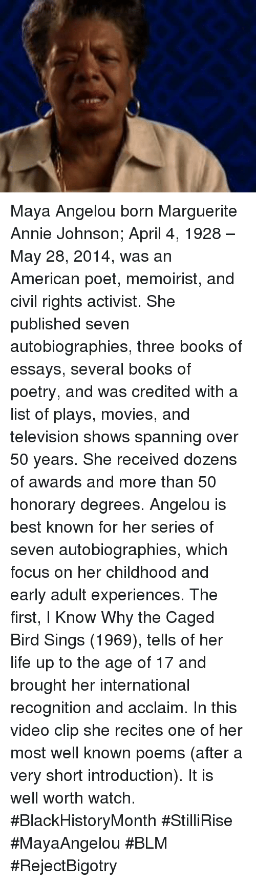 essays about maya angelou
