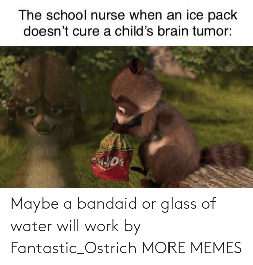 maybe: Maybe a bandaid or glass of water will work by Fantastic_Ostrich MORE MEMES
