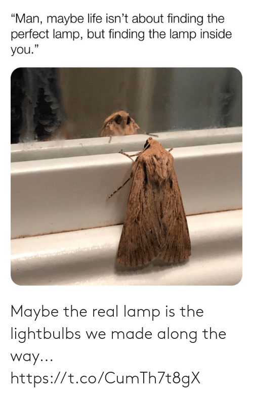 lamp: Maybe the real lamp is the lightbulbs we made along the way... https://t.co/CumTh7t8gX