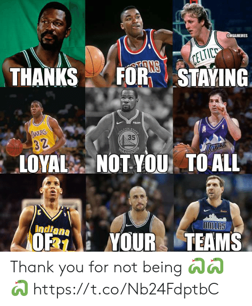 arr: @MBAMEMES  THANKSFORTSTAYING  35  ARR  LOYAL NOT YOU TO ALL  Indiana  0% : YOUR TEAMS Thank you for not being 🐍🐍🐍 https://t.co/Nb24FdptbC