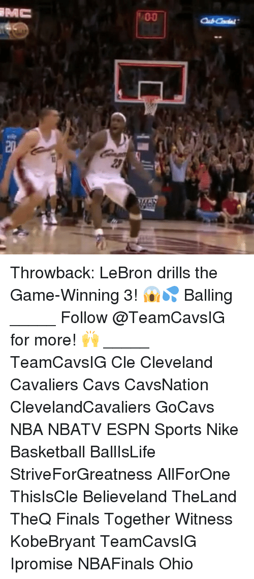 Anaconda, Basketball, and Cavs: MC  PAC  100  23 Throwback: LeBron drills the Game-Winning 3! 😱💦 Balling _____ Follow @TeamCavsIG for more! 🙌 _____ TeamCavsIG Cle Cleveland Cavaliers Cavs CavsNation ClevelandCavaliers GoCavs NBA NBATV ESPN Sports Nike Basketball BallIsLife StriveForGreatness AllForOne ThisIsCle Believeland TheLand TheQ Finals Together Witness KobeBryant TeamCavsIG Ipromise NBAFinals Ohio