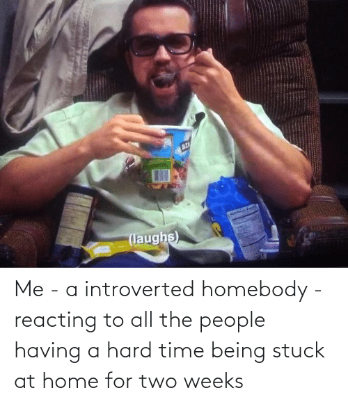 introverted: Me - a introverted homebody - reacting to all the people having a hard time being stuck at home for two weeks