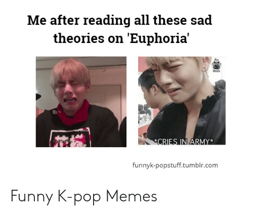 Funny Kpop Memes: Me after reading all these sad  theories on 'Euphoria'  fo  funnyk-popstuff.tumblr.com Funny K-pop Memes
