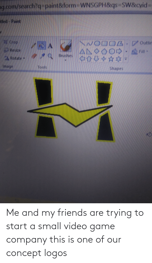 Logos: Me and my friends are trying to start a small video game company this is one of our concept logos