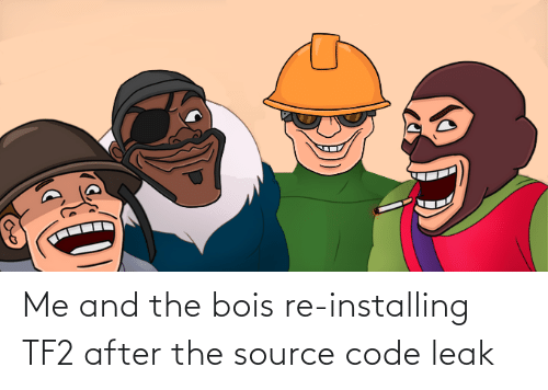 After The: Me and the bois re-installing TF2 after the source code leak