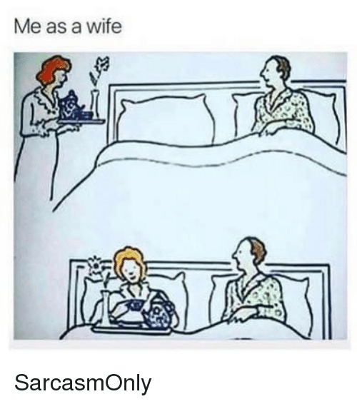 Funny, Memes, and Wife: Me as a wife SarcasmOnly